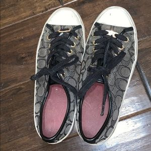 coach grey/black sneakers